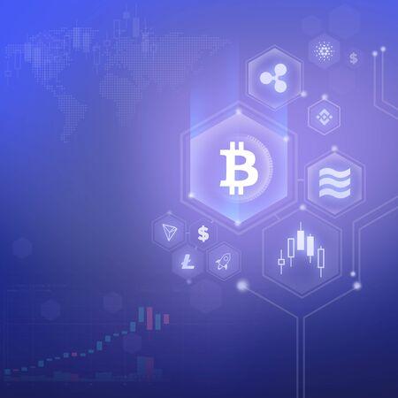 bitcoin texture background Reklamní fotografie