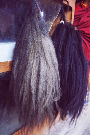 clothes: Yak hair used to make shoes or clothes Stock Photo