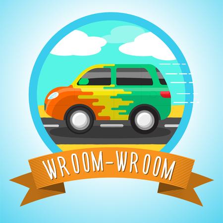 Wroom-wroom! Illustration