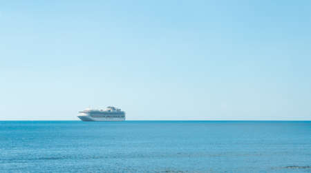 rule of thirds: Cruise Ship in Andaman sea - Phuket,Thailand Stock Photo