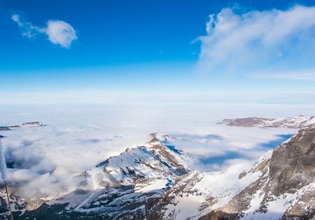jungfraujoch: Snow mountain at Jungfrau mountain- Beautiful View point of Swiss - Jungfraujoch Top of Europe