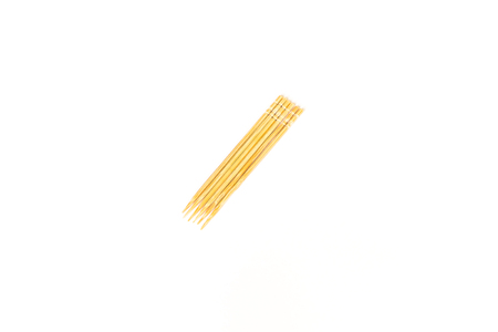 toothpick: group of wooden toothpick isolated on white background