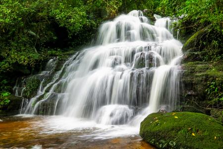 Mundaeng Waterfall at Phu Hin Rong Kla, Phitsanulok, Thailand. Stock Photo