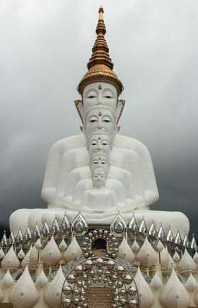 Five Buddhas at Wat Phra Thad Pha Son Kaew Temple, Phetchabun, Thailand Stock Photo - 65324760