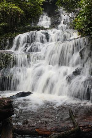 Mundaeng Waterfall at Phu Hin Rong Kla, Phitsanulok, Thailand Stock Photo - 65324771