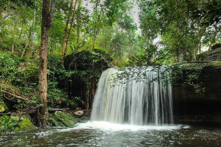 Wang Kwang Waterfall at Phu Kradueng National Park, Loei, Thailand Stock Photo - 65325067