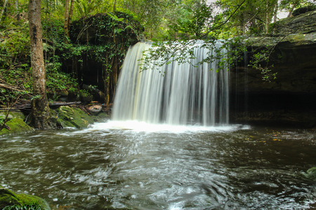 Wang Kwang Waterfall at Phu Kradueng National Park, Loei, Thailand Stock Photo - 65325069