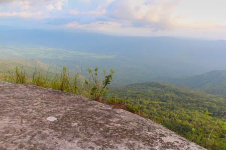 Cliff at Phu Kradueng National Park, Loei, Thailand. Stock Photo