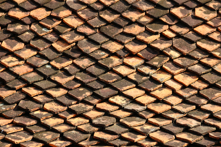 brick on the roof. Stock Photo