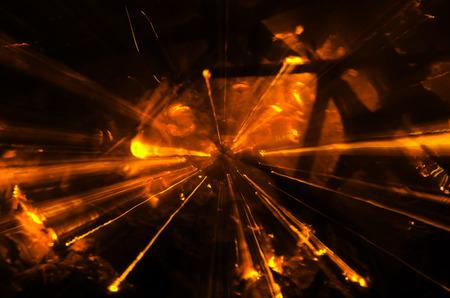 Abstract Orange light burst zoom.