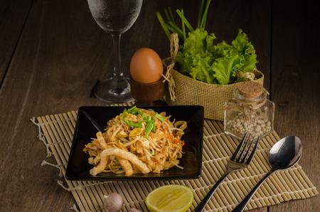 Thai stir-fried rice noodles. (Pad Thai) Stock fotó