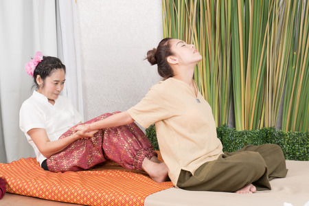 Relaxing thai massage to relieve the pain after hard work.
