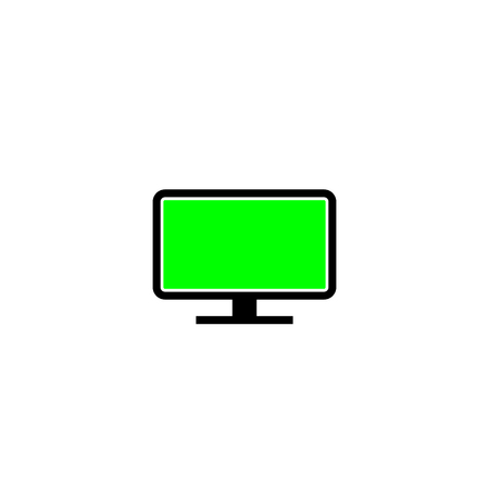 Green Screen Monitor. Illustration