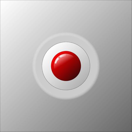 赤いボットンアイコン