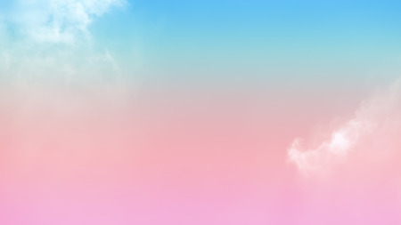 Soft cloud background on the sky with a pastel colored gradient.