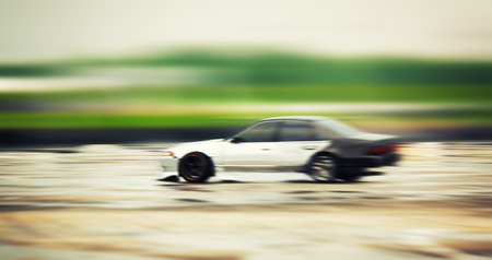 Sport Car Wheel Drifting Blurred Of Image Diffusion Race Drift