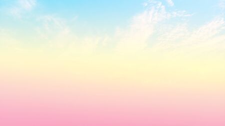 Cloud on sky background with pastel color.