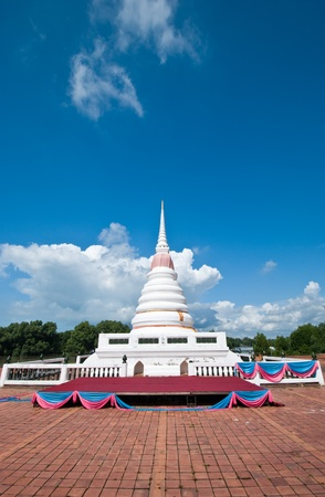 Pagoda under the blue sky with mangrove background in Thailand Stock Photo - 11142860