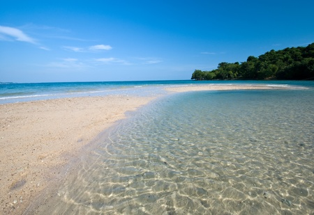 peaceful white sand  beach at Kudi island,Thailand photo