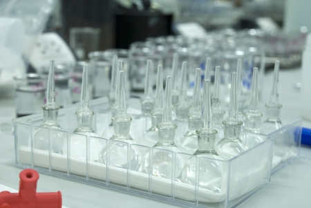 Gravitation flask in laboratory photo