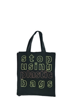 plactic: Stop using plactic bag to save the world by using cloth bag