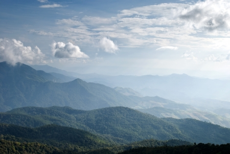 Peaceful Valley a view from top of Intanont mountain, Thailand photo