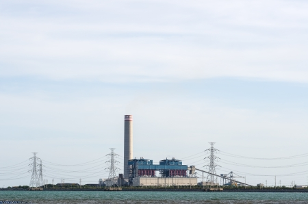 coal fired: Coal fired electric power plant in Thailand Stock Photo