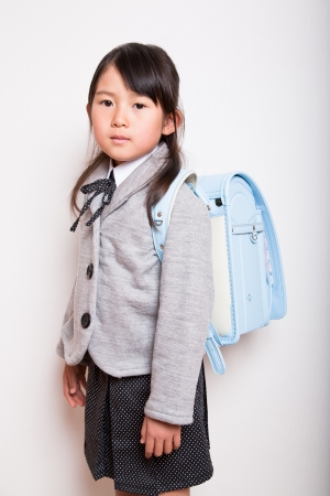 Young Student is ready to go to school photo