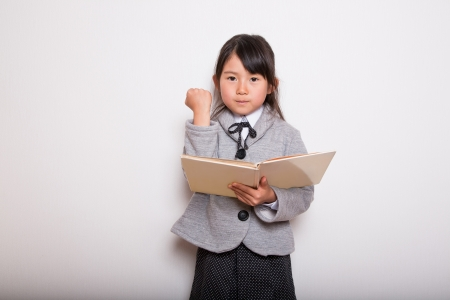 A young school girl ready to Study  photo