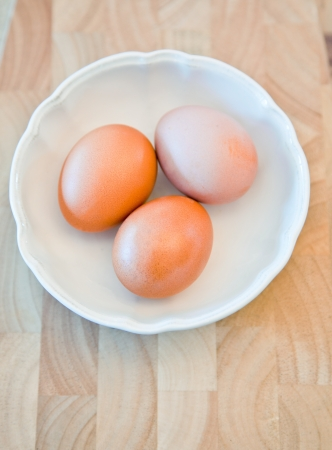 ingradient: three eggs ready for cooking