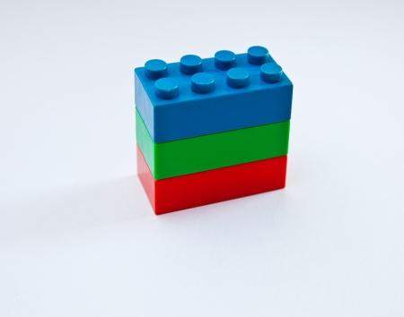 image of red,green,blue plastic blocks 版權商用圖片