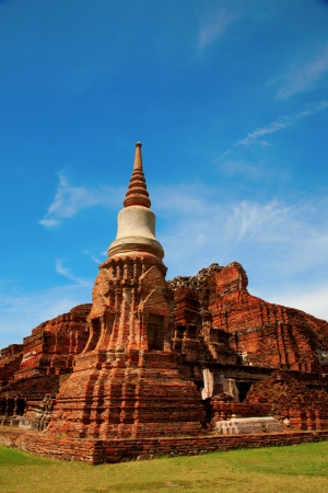 stupa of the temple in Ayuthaya,Thailand photo