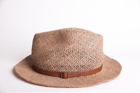 summer panama hat on white background