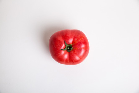 ingradient: top view red tomato on white background Stock Photo