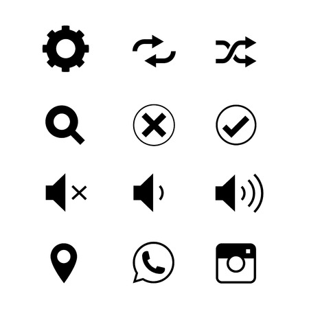Vector illustration of communication icons on devices.