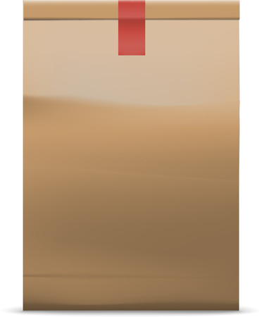 vector illustration of shopping paper bag