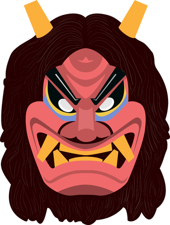 namahage, japanese myth vector illustration