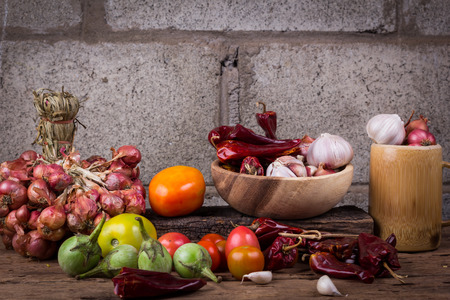 dried food: fruits and vegetables Stock Photo
