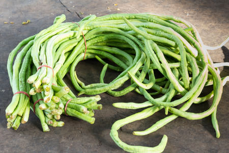 cow pea: bundle of cow pea in pile of cow pea for sale in local market