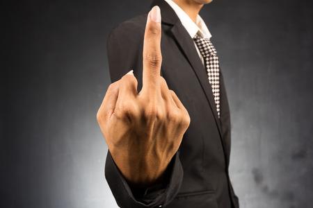 fuck: Hand of Businessman show fuck