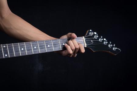 e guitar: E guitar chord Stock Photo