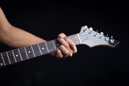 chord: G guitar chord Stock Photo