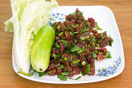 isaan: Laab. Thai Spicy minced meat salad
