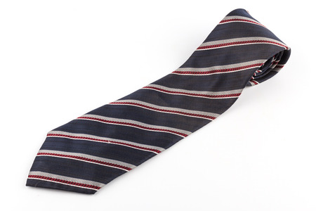 elastic garments: black Red striped necktie on a white background