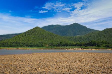 oxbow: Sky River Mountain Stock Photo