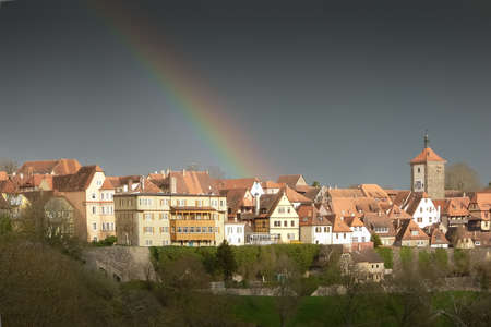 ancient town of Rothenburg ob der Tauber in Germany