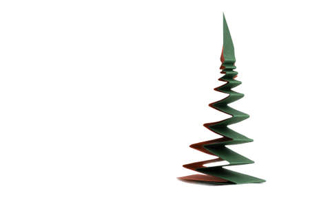 simple christmas tree made from paper photo