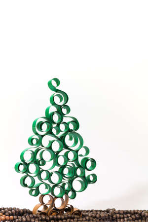 christmas tree from curled  paper strip Stock Photo