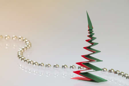 Christmas tree made from paper photo