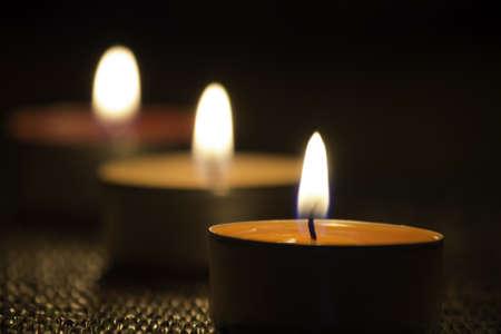 kerze: Gruppe von brennenden Kerzen Lizenzfreie Bilder